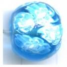 glaskralen 12mm blauw discus rond
