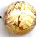 glaskralen 12mm bruin discus rond