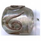 glaskralen 11mm paars cilinder