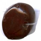 glaskralen 8mm bruin konisch