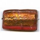 glaskralen 30mm bruin rechthoekig