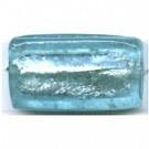 glaskralen 30mm blauw rechthoekig kleurnummer 77