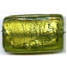 glaskralen 30mm groen rechthoekig