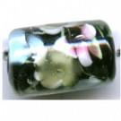 glaskralen 16mm zwart cilinder