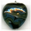 glaskralen 20mm blauw hartje