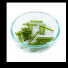 staafjes kralen 18mm groen cilinder glas