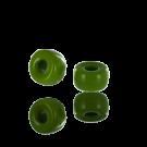 Glaskralen groot gat 6mm gras groen opaque cilinder