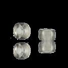 Glaskralen groot gat 6mm grijs doorzichtig cilinder