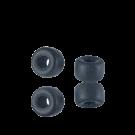 Glaskralen groot gat 6mm opaque mat zwart cilinder