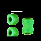 Glaskralen groot gat 9mm appelgroen opaque cilinder