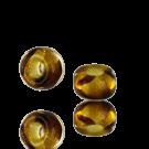 Glaskralen groot gat 9mm bruin transparant cilinder