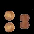 Glaskralen groot gat 9mm mat bruin doorzichtig cilinder