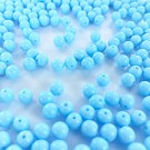 Glaskralen rond blauw babyblauw 6mm