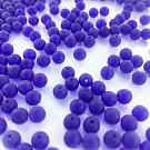 Glaskralen rond mat blauw 6mm