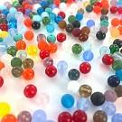 Glaskralen rond mix 6mm