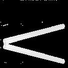 Glasstaafjes kralen 55mm wit buisje van glas