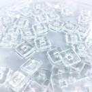 Glaskralen vierkant 11mm kristal transparant