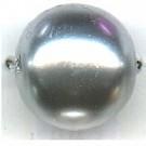 glasparels 14mm grijs rond kleurnummer 443