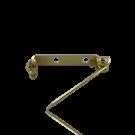 broches 22mm goud rechthoek metaal