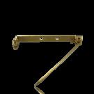broches 35mm goud rechthoek metaal