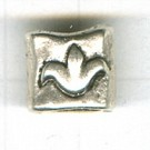 grootgatskralen 12mm oudzilver vierkant