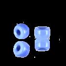 Glaskralen groot gat 6mm opaque baby blauw cilinder
