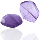 Grote kunststof kralen Ibiza style pastel purple