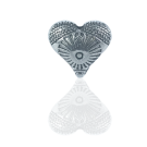 handbewerkt kraal hanger hartje 13mm koper