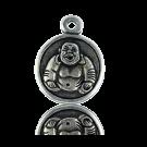 munten 29mm oudzilver boeddha tin