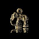 hanger bedeltje 14mm oudgoud olifant metaal
