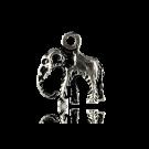 hanger bedeltje 14mm oudzilver olifant metaal