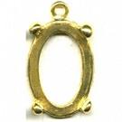 hanger kastjes 25mm goud ovaal