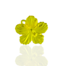 hangers 25mm kunststof bloem geel