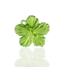 hangers 25mm kunststof bloem groen