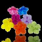 hangers 25mm kunststof mix bloem