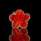 hangers 25mm kunststof bloem oranje