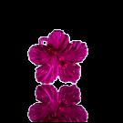 hangers 25mm kunststof bloem paars