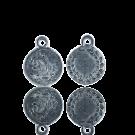 munten 11mm oudzilver rond metaal