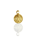 munten 8mm goud rond metaal