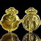 munten 34mm goud rond metaal