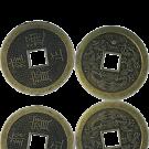munten hanger 38mm oudgoud rond chinese feng shui