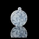 hanger muntje 14mm zilver rond