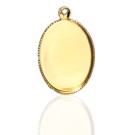 hanger kastjes setting 18mm goud ovaal