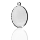 hanger kastjes setting 18mm zilver ovaal