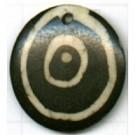 hangers 22mm bruin rond exotisch kleurnummer 5