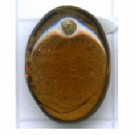 hangers 12mm bruin ovaal glas kleurnummer 1023
