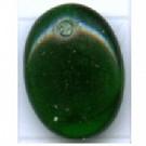hangers 12mm groen ovaal glas kleurnummer 5015
