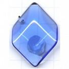 hangers 31mm blauw ruit