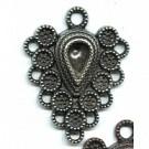 hangers 52mm oudzilver hartje