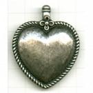hangers oudzilver hartje met rand